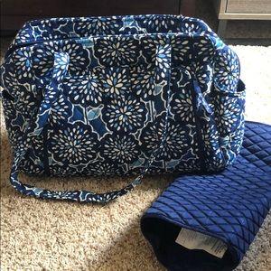 Vera baby bag!!!! Blue and white like new!